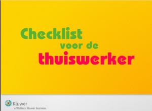 Checklist voor de thuiswerker